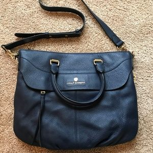 Vince Camuto Dean Satchel (Navy, Hardly Used)